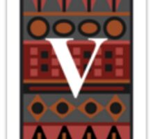 Letter V, Tribal Alphabet Sticker