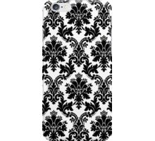 black damask iPhone Case/Skin