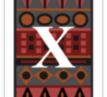 Letter X, Tribal Alphabet Sticker