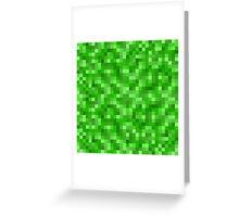 Minecraft Creeper replica Greeting Card