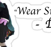 """Wear Sunscreen""  - Dracula Sticker"