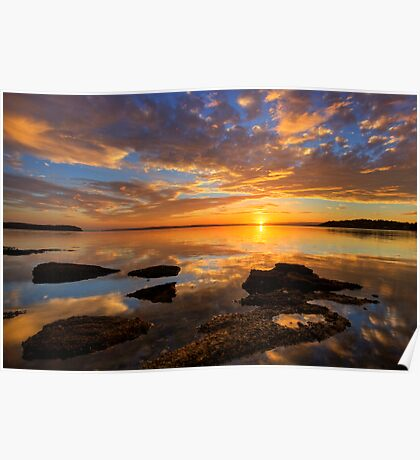 Wangi Point Sunset Poster
