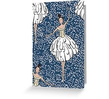 Swan Lake Snowstorm Greeting Card