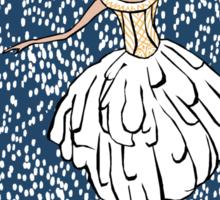 Swan Lake Snowstorm Sticker