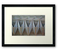 iron waves Framed Print
