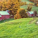 Jenne Farm Vermont Panoramic by Edward Fielding
