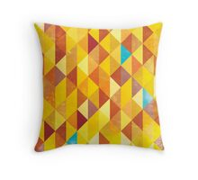 Mosaic 1485 - Red Orange Hipster Fire Throw Pillow