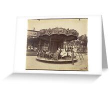 Carousel Fête du Trône, 1923 Paris France Photograph Greeting Card