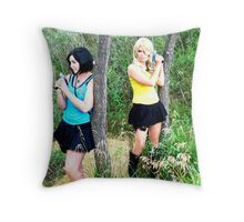 Female Spock and Kirk Prowling Throw Pillow