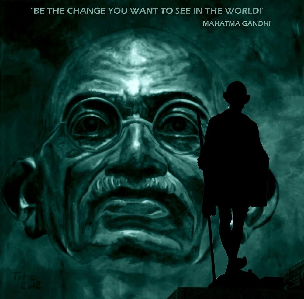 Mahatma Gandhi by ARTito