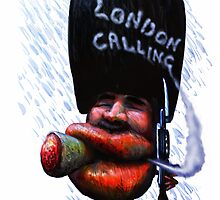 Wet London Calling...card by Tom Godfrey