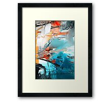 Abstract Blue Print - Reef  Framed Print