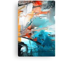 Abstract Blue Print - Reef  Canvas Print
