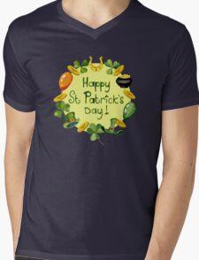 Happy St Patrick`s Day Mens V-Neck T-Shirt