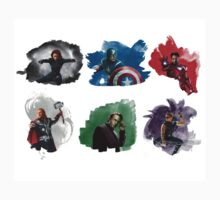 The Avengers + Watercolours Kids Clothes