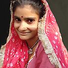 Girl in Pink, Delhi by Bev Pascoe