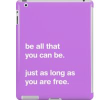 Be All That You Can Be - Pastel - Typography [PURPLE] iPad Case/Skin