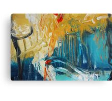 Abstract Orange Blue Print from Original Painting  Canvas Print