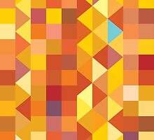 Mosaic 1491 - Triangles and Squares by Carl Huber