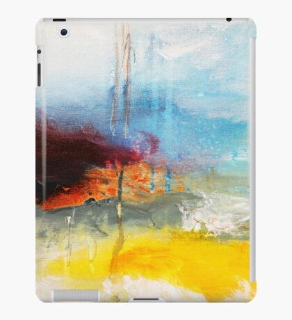 Yellow Blue Abstract Art Print iPad Case/Skin