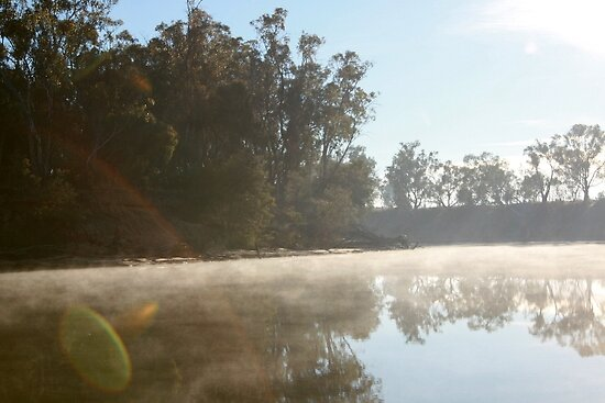 Murray river early morning by annofsilhouette