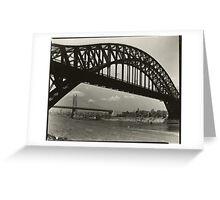 Hell Gate Bridge New York City 1935 Photograph Greeting Card