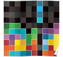 Mosaic 1494 - Tetris Mosaic Poster