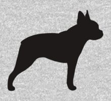 Boston Terrier Silhouette by Jenn Inashvili