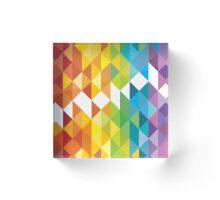Mosaic 1495 - Rainbow Connection Acrylic Block