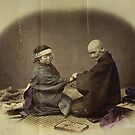 Japanese Doctor and Patient 1868 Photograph Enhanced by T-ShirtsGifts
