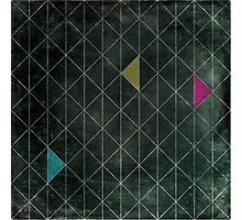 Mosaic 1497 - Dark Hipster Triangles Photographic Print