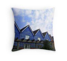 Blue Houses Throw Pillow