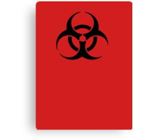 BIOHAZARD Sign warning symbol Canvas Print