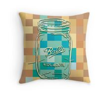 Mosaic 1498 - Mason Jar Ball Jar Hipster Throw Pillow