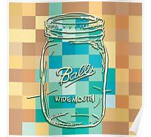 Mosaic 1498 - Mason Jar Ball Jar Hipster Poster