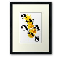 Sliced pineapple Framed Print
