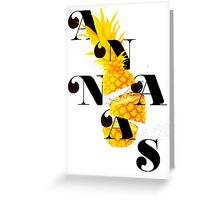 Sliced pineapple Greeting Card