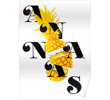 Sliced pineapple Poster