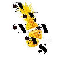 Sliced pineapple Photographic Print