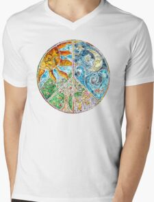 Peace Mens V-Neck T-Shirt