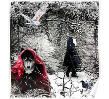 Red Wolfing hood Poster