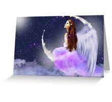 Moonlight Angel Greeting Card