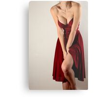 Woman In Red Metal Print