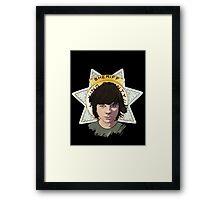 Sheriff Coral Framed Print