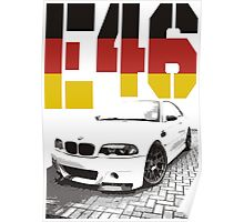 BMW E46 germany Poster