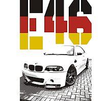 BMW E46 germany Photographic Print