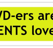 4WD-ers are IN-TENTS lovers!! Sticker