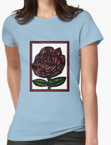 Splice Flowers Red Green White T-Shirt