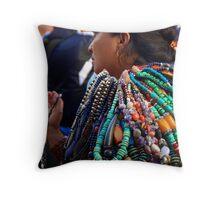 Necklace madam? -  Kathmandu, Nepal Throw Pillow