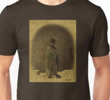 Japanese Man In Straw Hat 1866 Photograph Enhanced Unisex T-Shirt